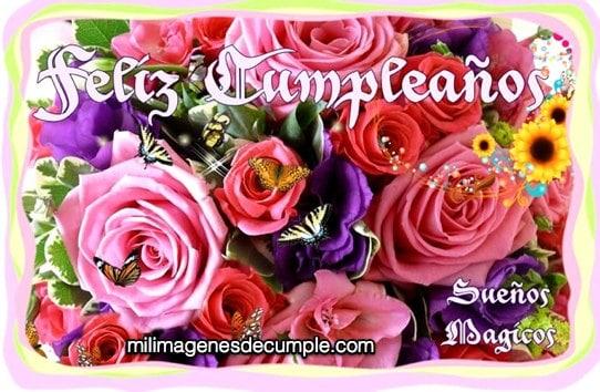 Imágenes De Cumpleaños Con Flores De Colores