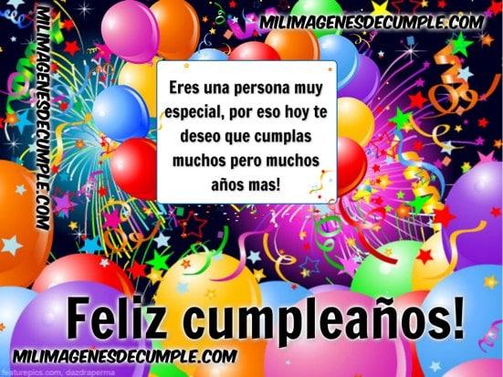 imagenes de cumpleaños con globos de colores y frase