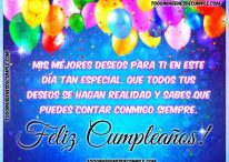 Mis mejores deseos para ti en tu cumpleaños, sabes que puedes contar conmigo siempre