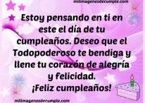 Deseo que el Todopoderoso te bendiga y llene tu corazón de alegría y felicidad en tu cumpleaños