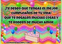 ¡Te deseo que tengas el mejor cumpleaños de tu vida!