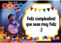 Imágenes y tarjetas de cumpleaños con Coco de Disney