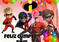Imágenes y tarjetas de cumpleaños con los Increíbles de Disney